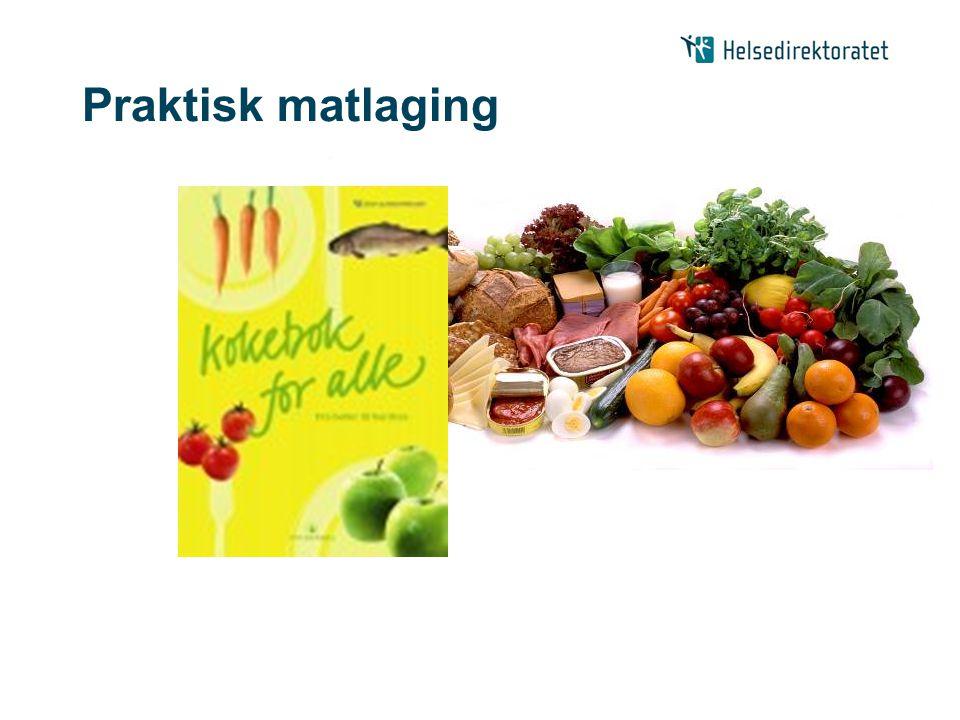 Praktisk matlaging Gjennom å prøve ut oppskrifter fra kokeboka kan deltakerne bli fortrolig med å prøve nye sunne.
