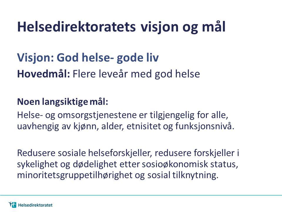 Helsedirektoratets visjon og mål