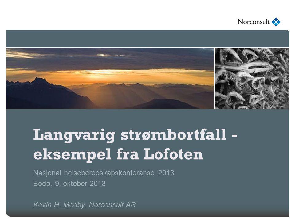 Langvarig strømbortfall - eksempel fra Lofoten