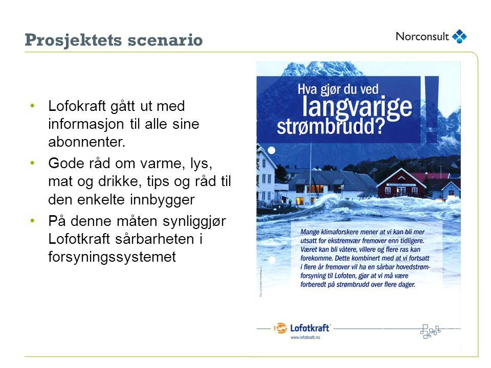 Prosjektets scenario Lofokraft gått ut med informasjon til alle sine abonnenter.