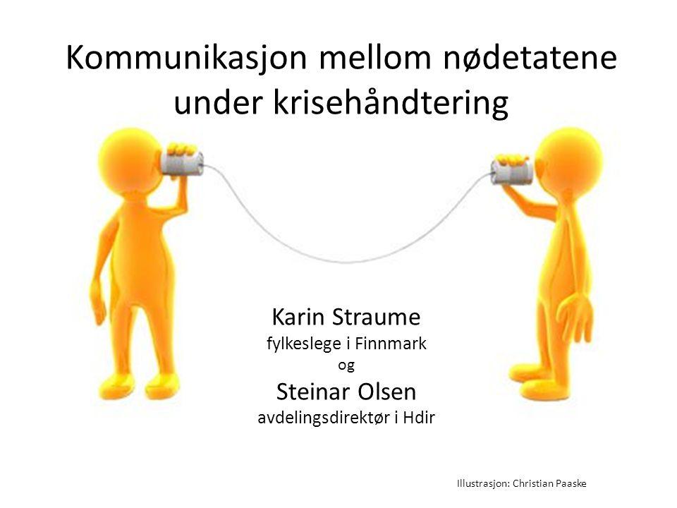 Kommunikasjon mellom nødetatene under krisehåndtering