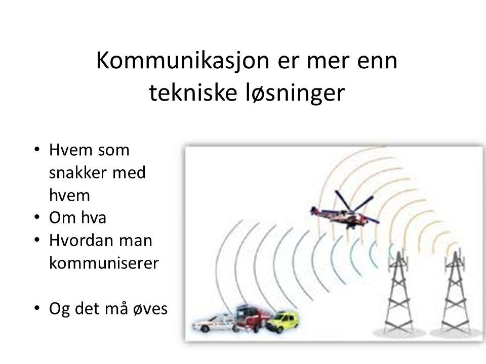 Kommunikasjon er mer enn tekniske løsninger