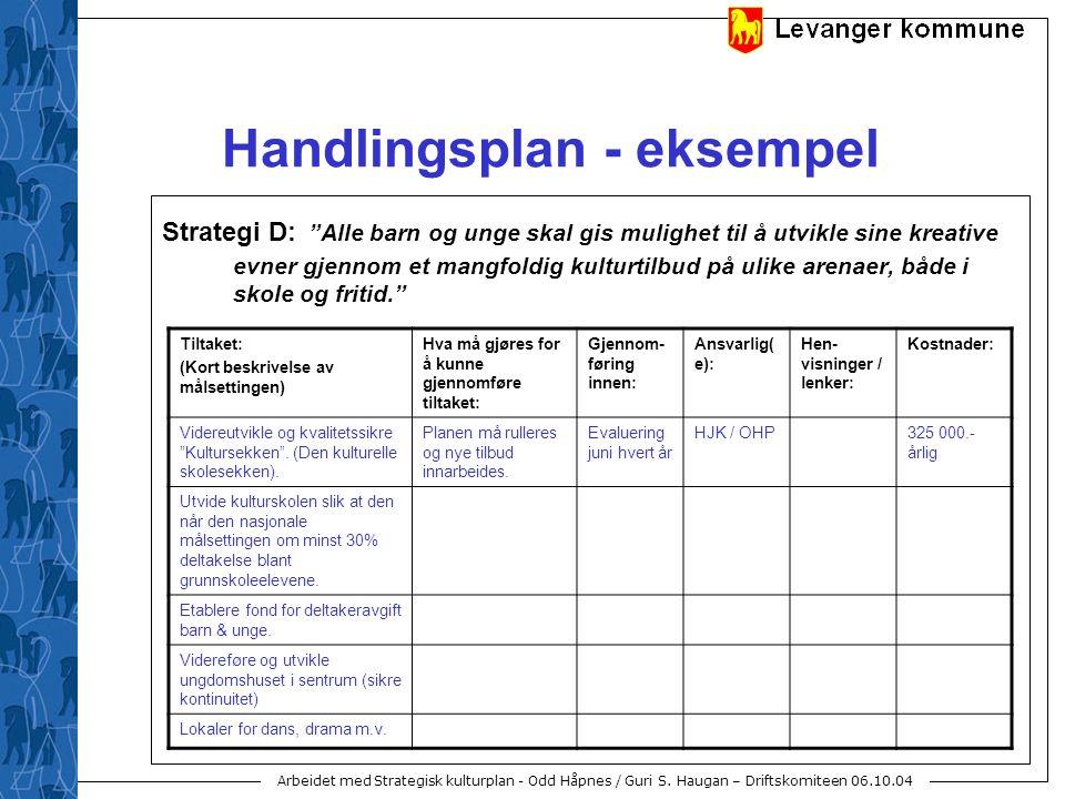 Handlingsplan - eksempel