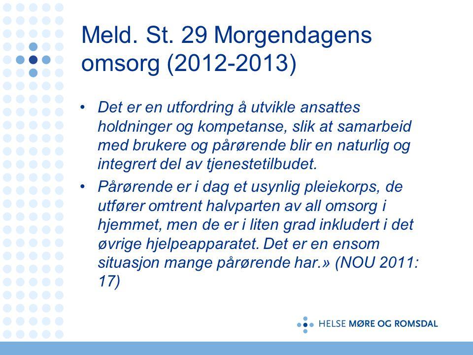 Meld. St. 29 Morgendagens omsorg (2012-2013)