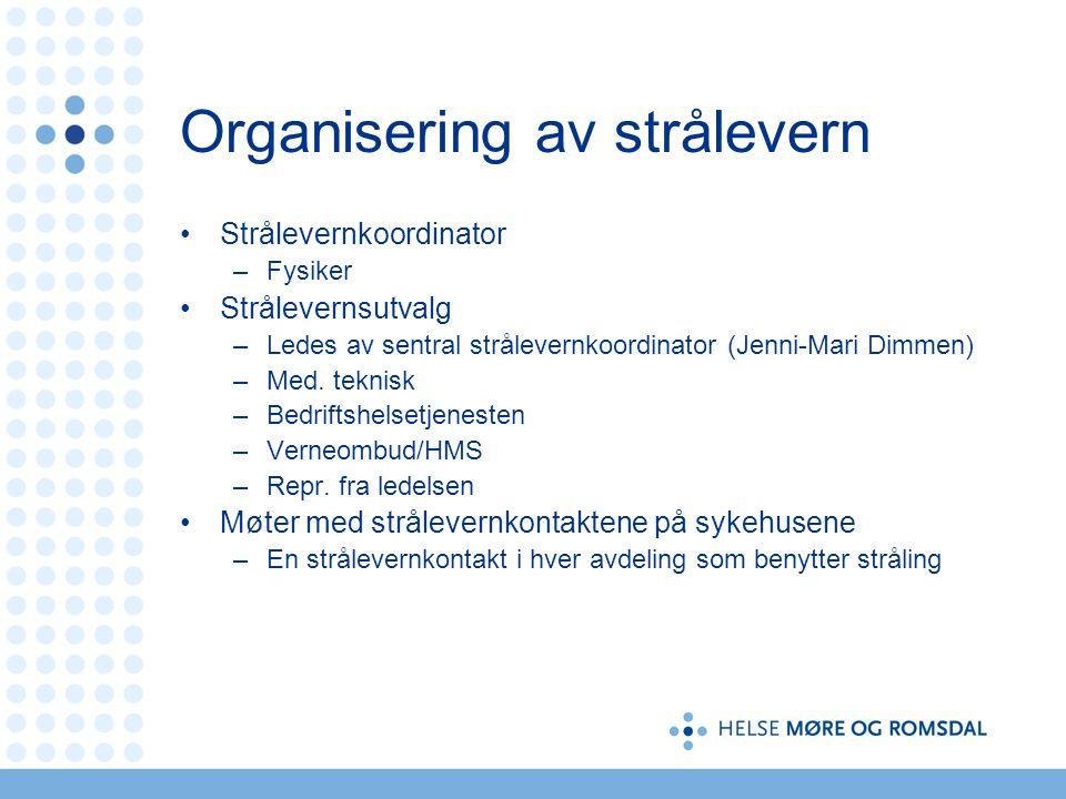 Organisering av strålevern