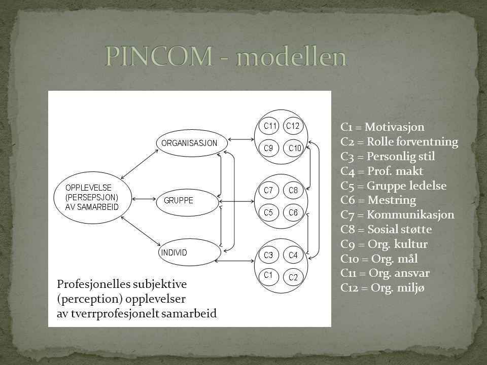 PINCOM - modellen C1 = Motivasjon C2 = Rolle forventning