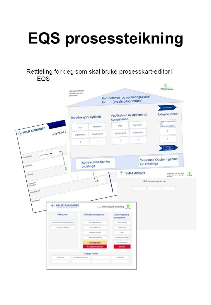 EQS prosessteikning Rettleiing for deg som skal bruke prosesskart-editor i EQS