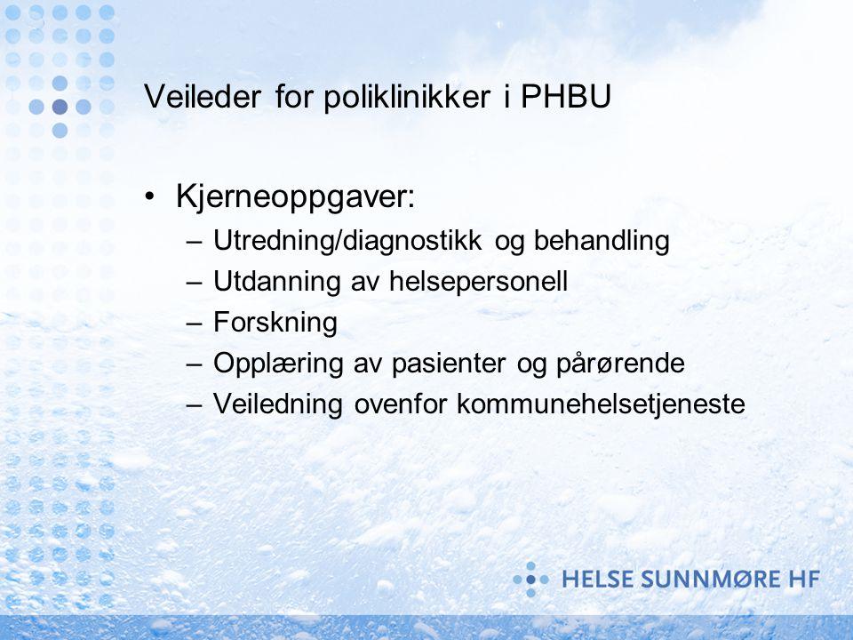 Veileder for poliklinikker i PHBU