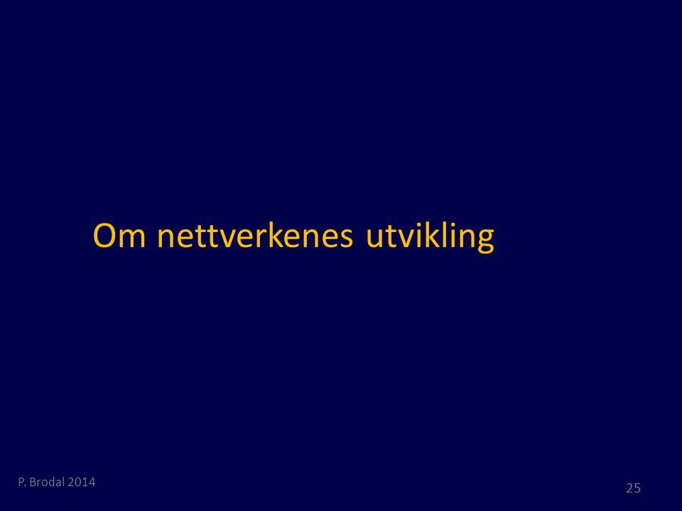 Om nettverkenes utvikling