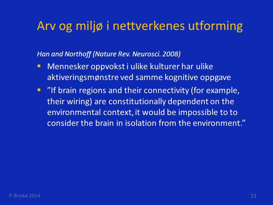 Arv og miljø i nettverkenes utforming
