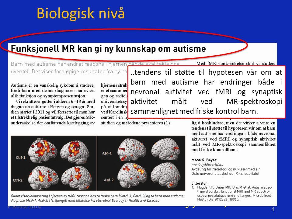 Biologisk nivå Hjerne og sjel.