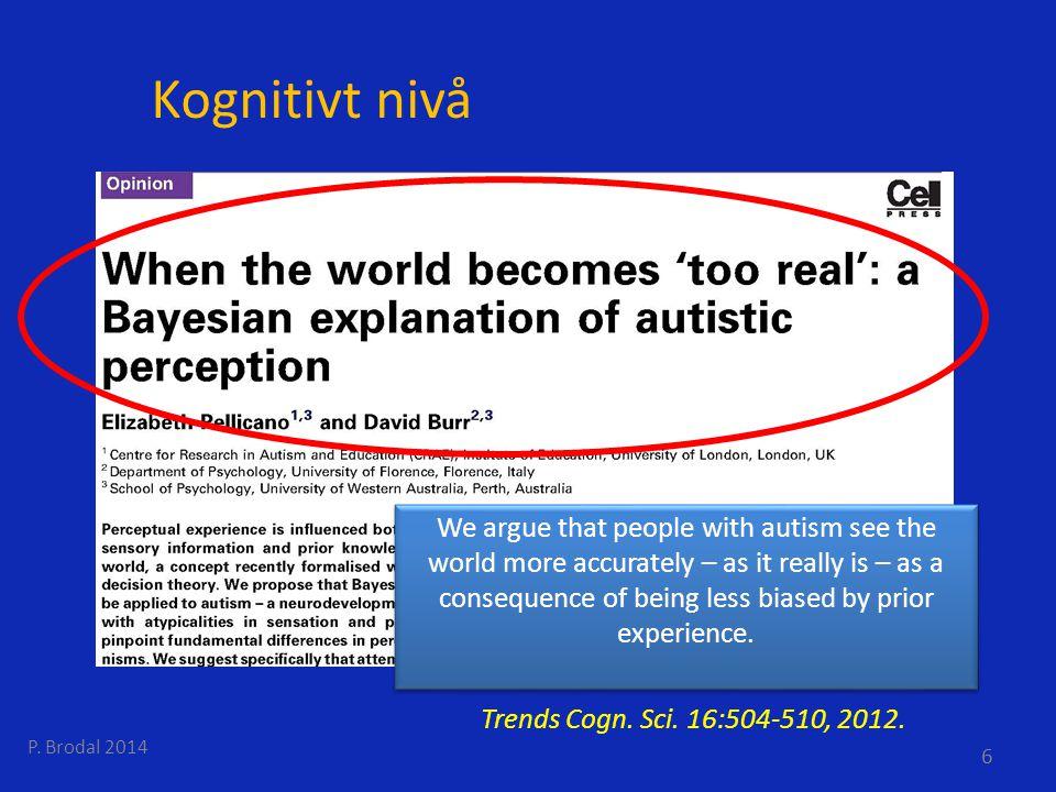 Ålesund 2014 Kognitivt nivå.