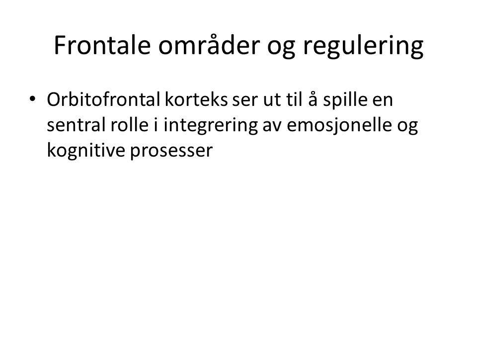 Frontale områder og regulering