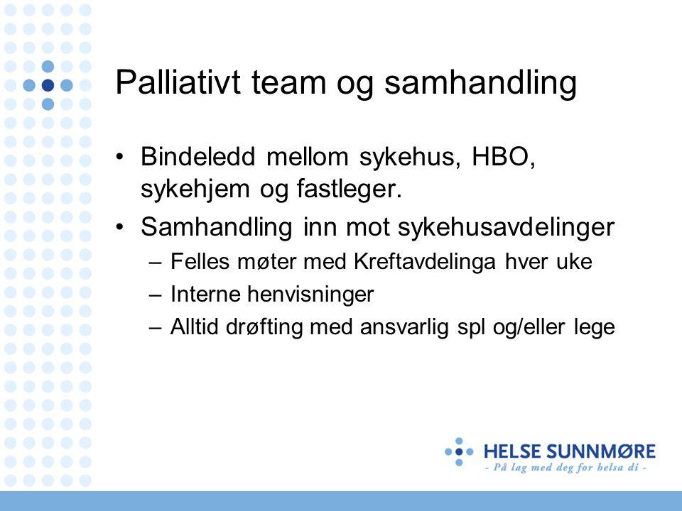 Palliativt team og samhandling