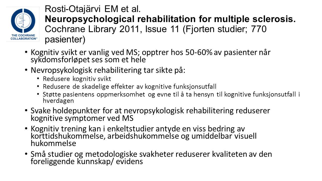 Rosti-Otajärvi EM et al
