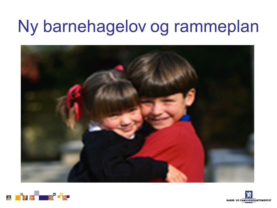 Ny barnehagelov og rammeplan