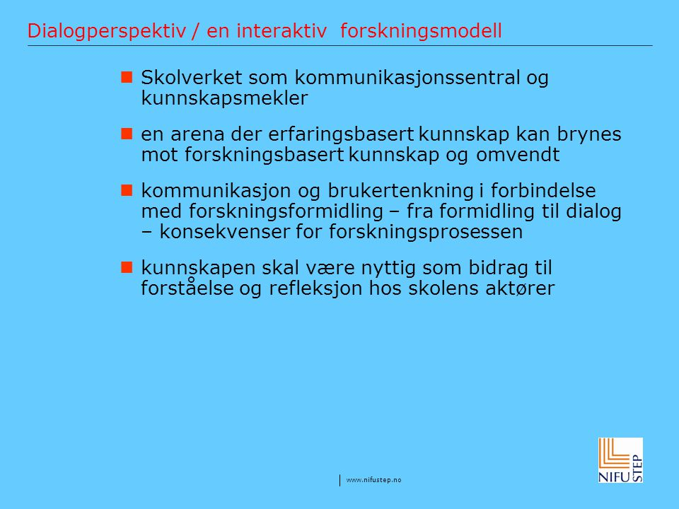 Dialogperspektiv / en interaktiv forskningsmodell