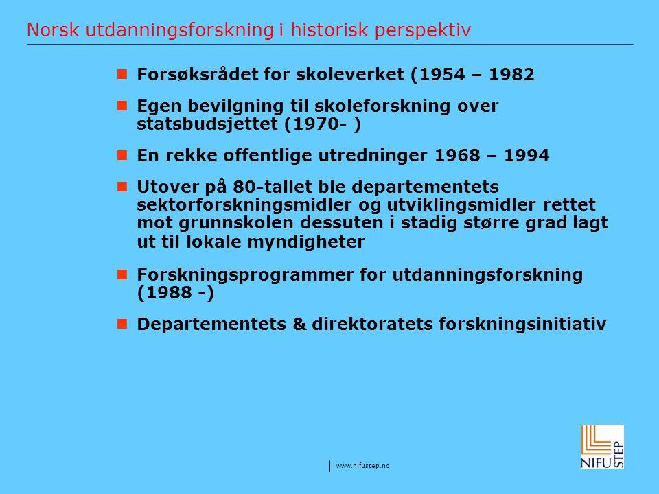 Norsk utdanningsforskning i historisk perspektiv