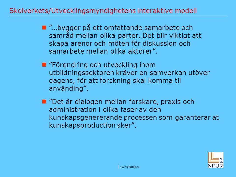 Skolverkets/Utvecklingsmyndighetens interaktive modell