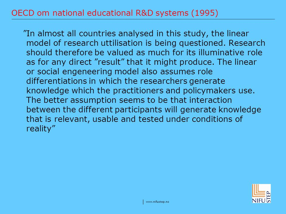 OECD om national educational R&D systems (1995)