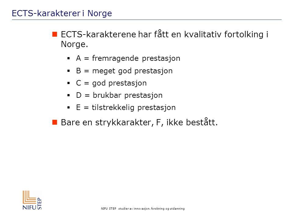 ECTS-karakterer i Norge