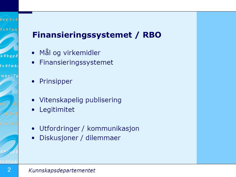 Finansieringssystemet / RBO