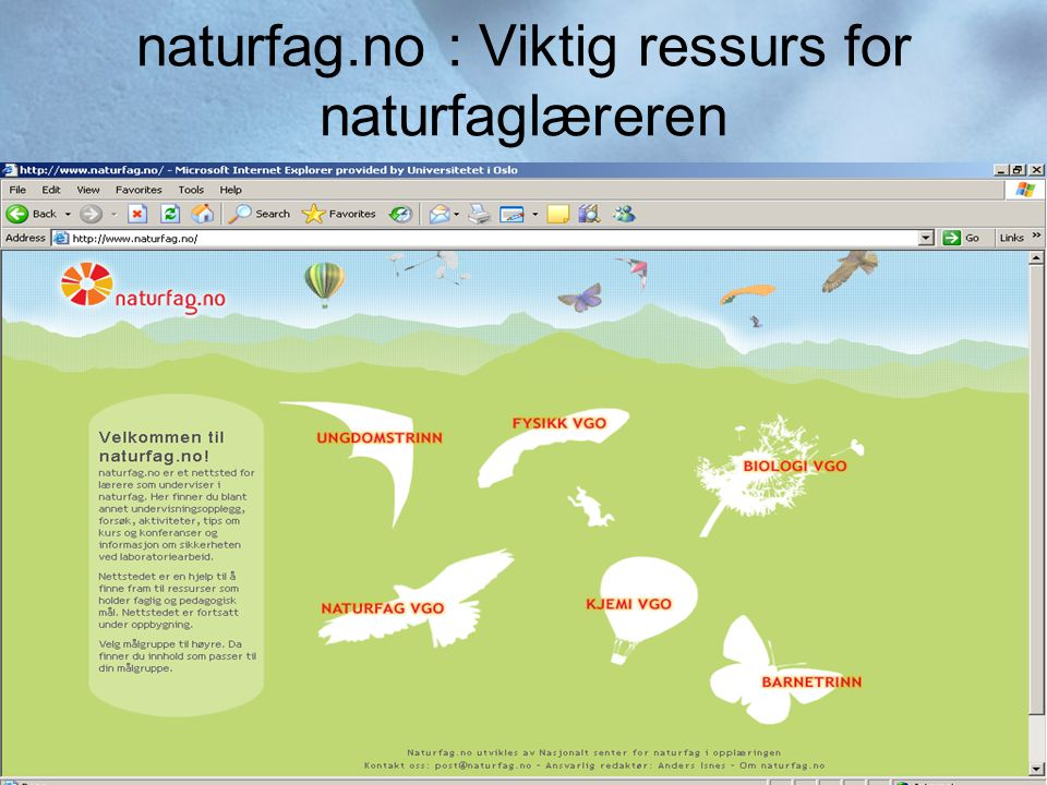 naturfag.no : Viktig ressurs for naturfaglæreren