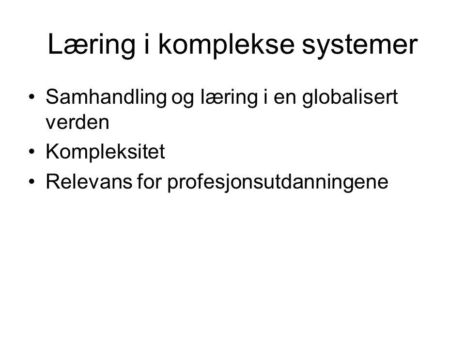 Læring i komplekse systemer
