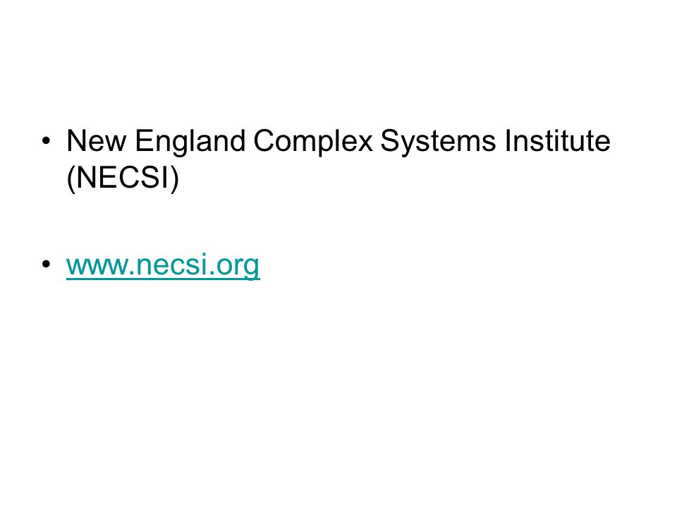 New England Complex Systems Institute (NECSI)