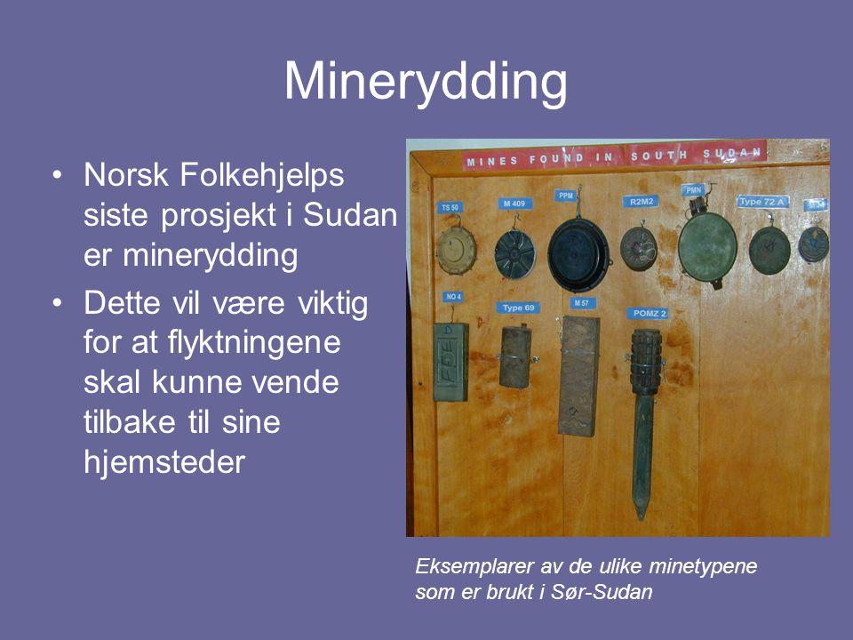 Minerydding Norsk Folkehjelps siste prosjekt i Sudan er minerydding