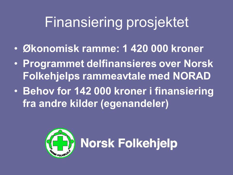 Finansiering prosjektet