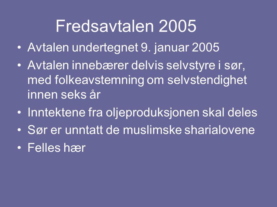 Fredsavtalen 2005 Avtalen undertegnet 9. januar 2005