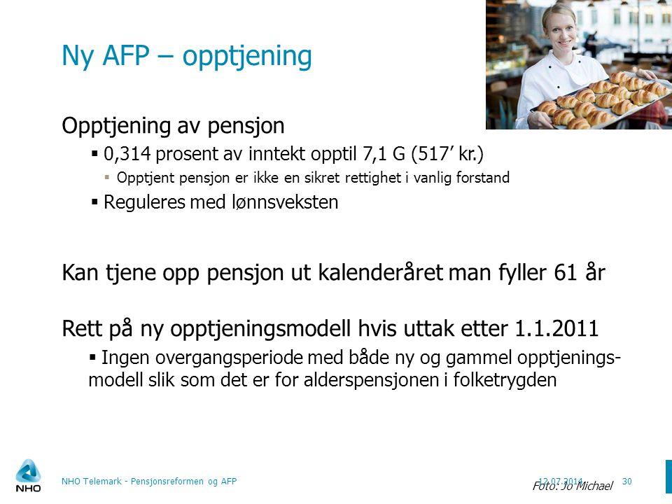 Ny AFP – opptjening 1 G pr. 1. mai 2009 er 72.881 kr.