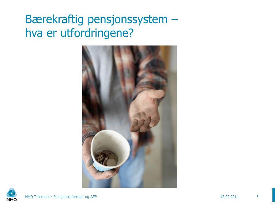 Bærekraftig pensjonssystem – hva er utfordringene