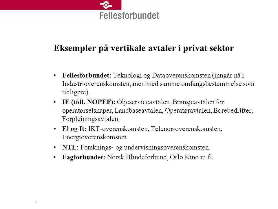 Eksempler på vertikale avtaler i privat sektor