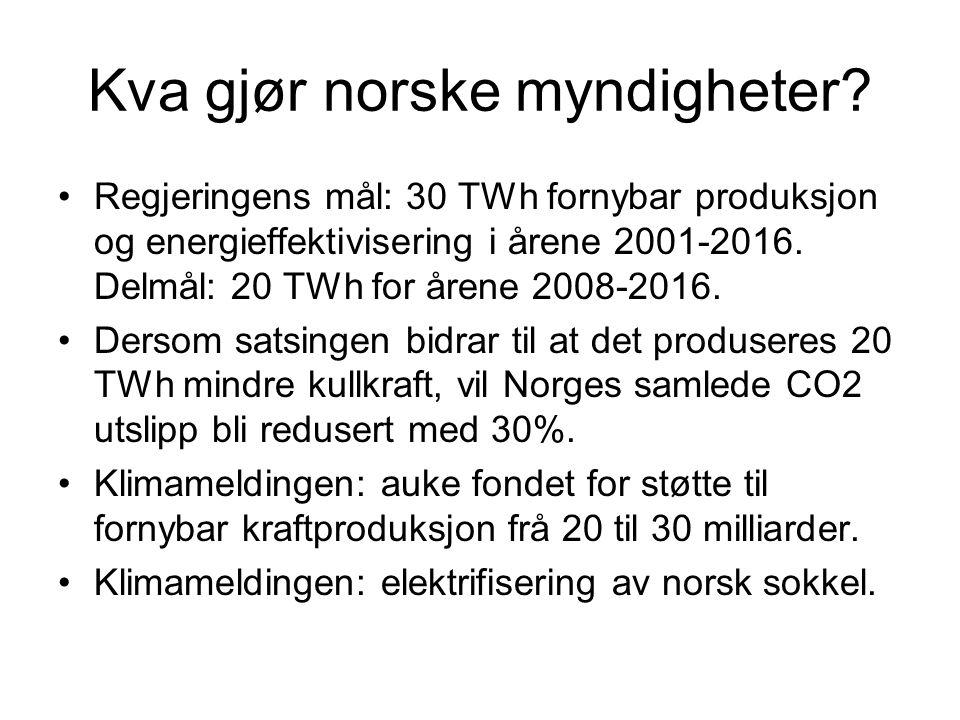 Kva gjør norske myndigheter