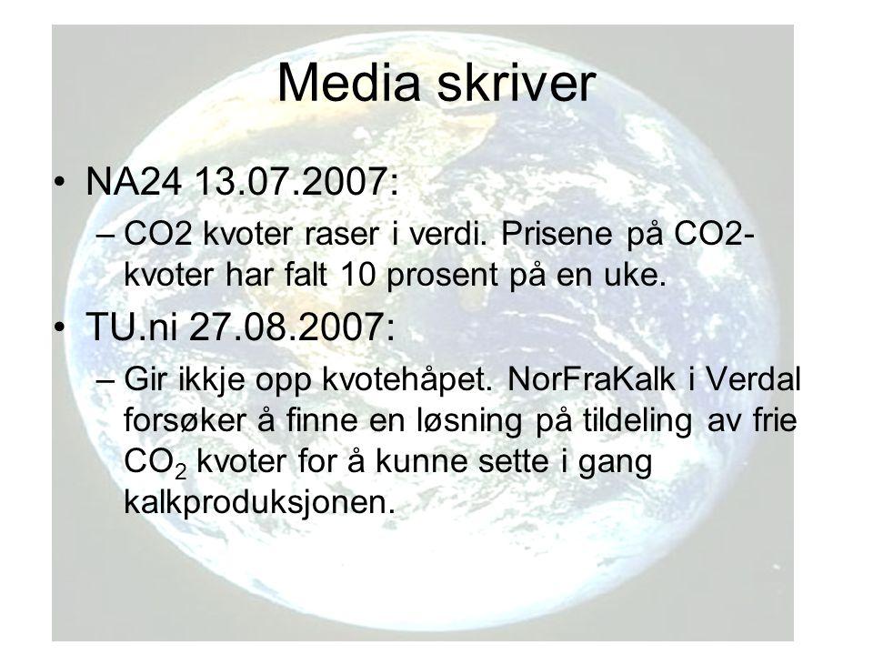 Media skriver NA24 13.07.2007: TU.ni 27.08.2007: