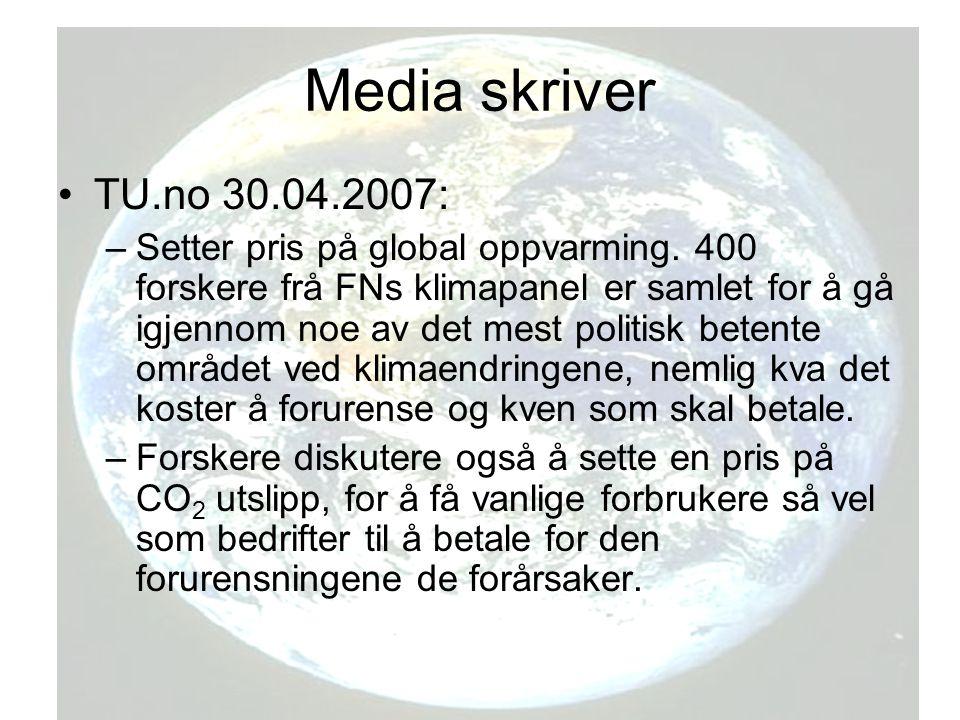 Media skriver TU.no 30.04.2007: