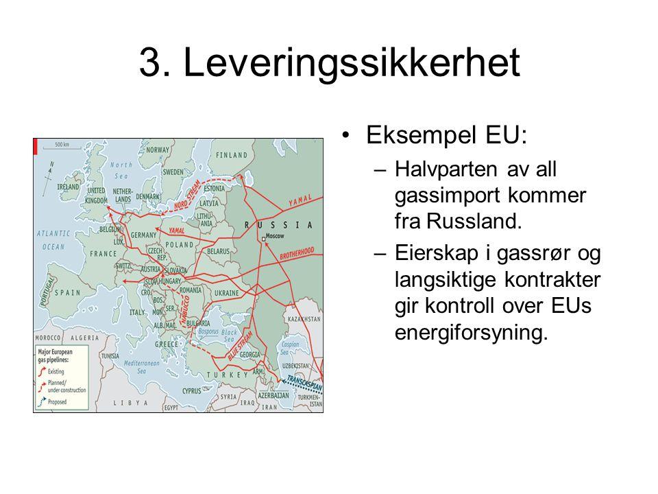 3. Leveringssikkerhet Eksempel EU:
