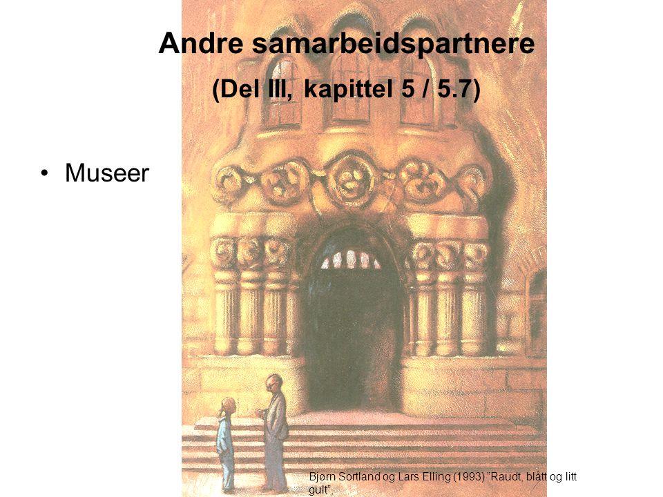 Andre samarbeidspartnere (Del III, kapittel 5 / 5.7)