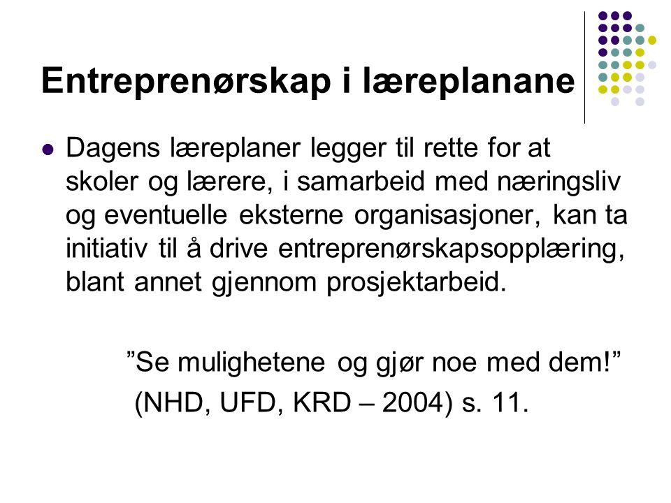 Entreprenørskap i læreplanane