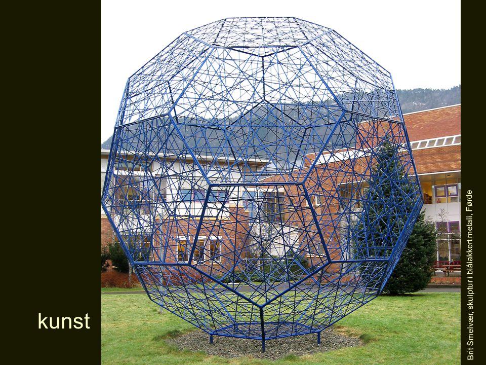 Brit Smelvær, skulptur i blålakkert metall, Førde