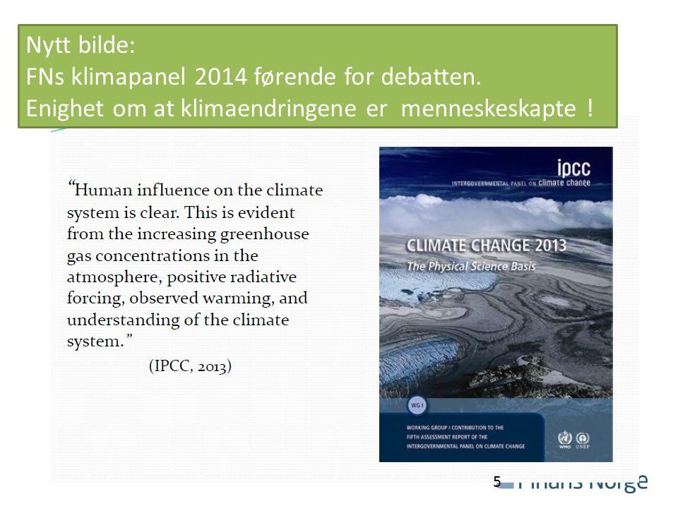 Nytt bilde: FNs klimapanel 2014 førende for debatten.