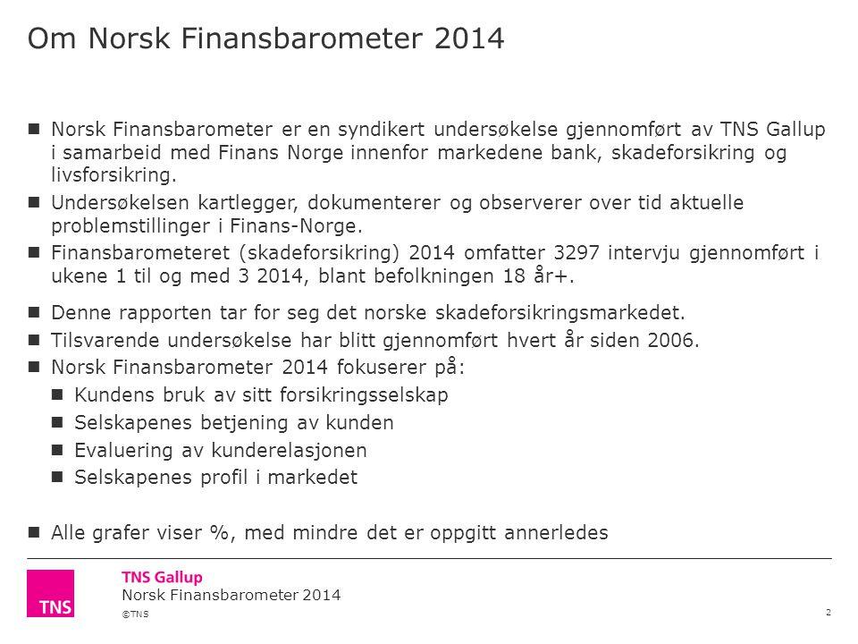 Om Norsk Finansbarometer 2014