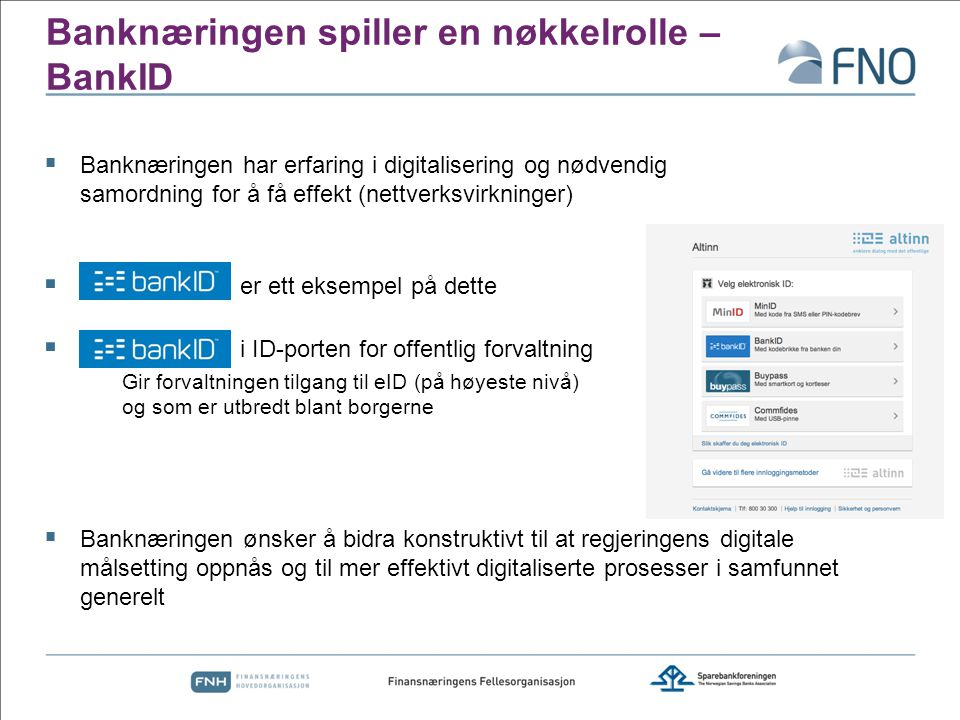 Banknæringen spiller en nøkkelrolle – BankID