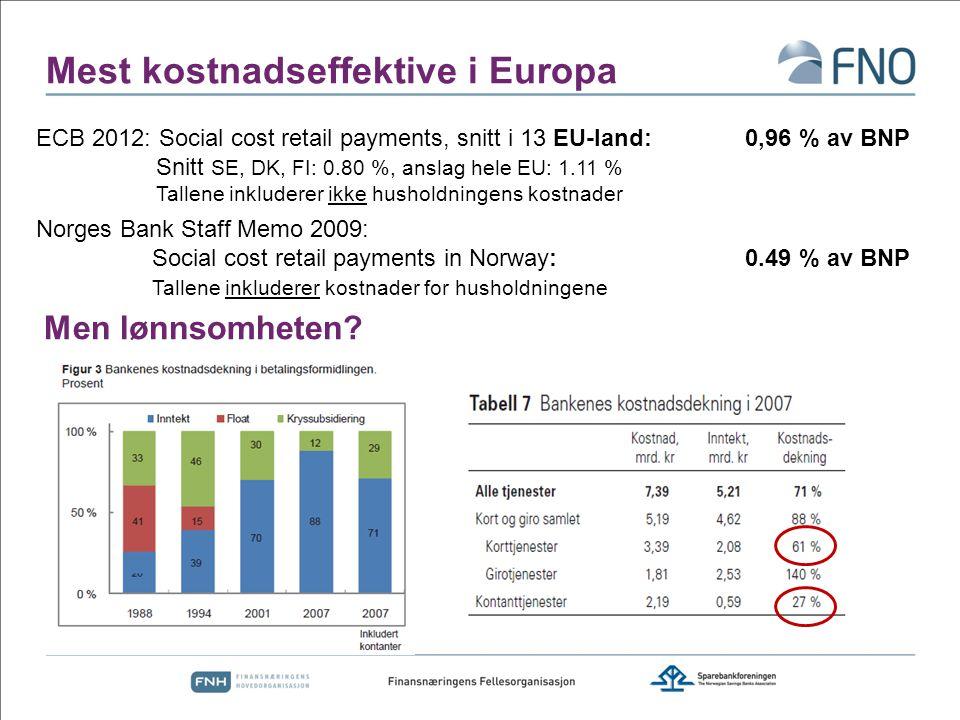 Mest kostnadseffektive i Europa