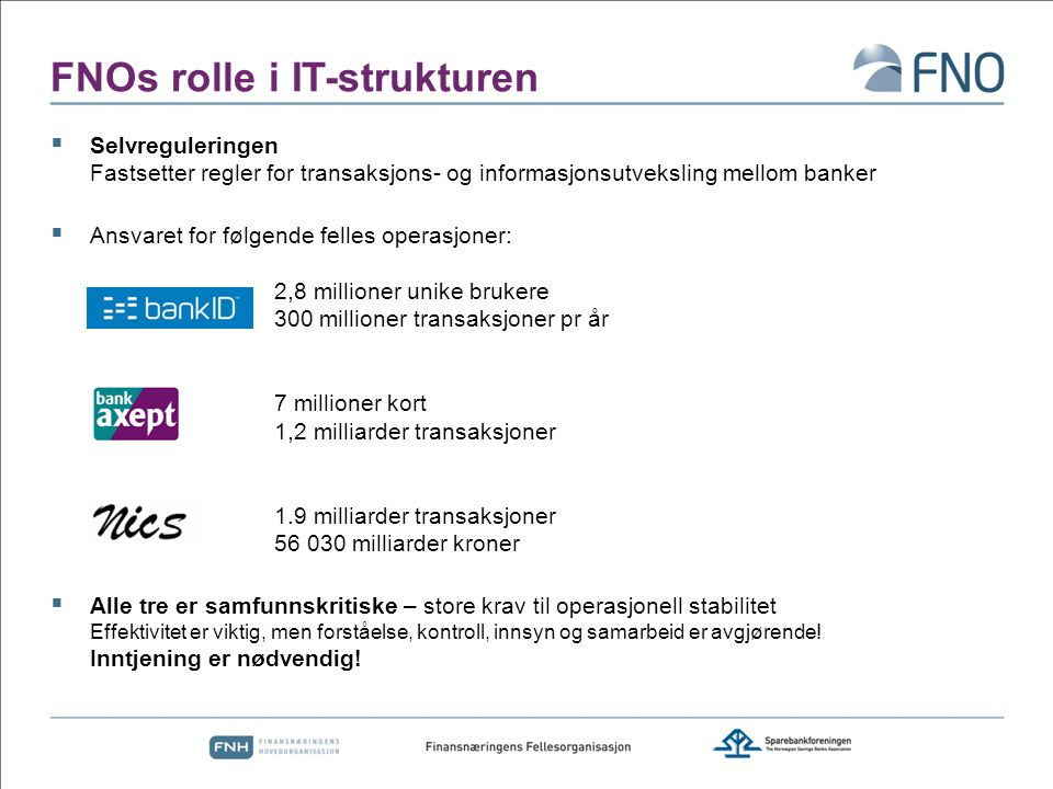 FNOs rolle i IT-strukturen