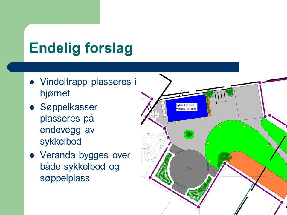 Endelig forslag Vindeltrapp plasseres i hjørnet