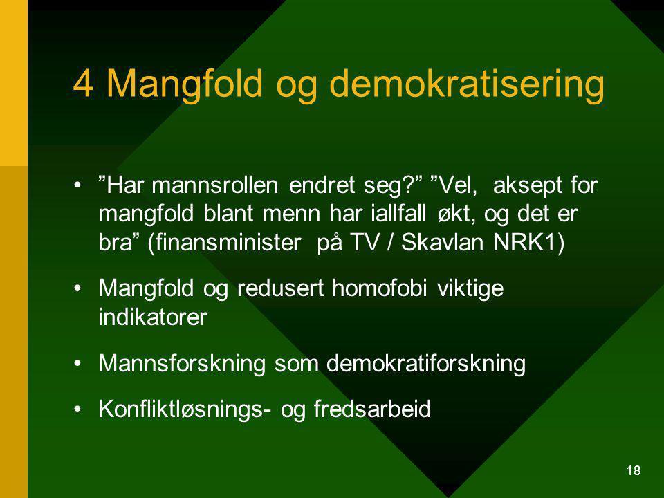 4 Mangfold og demokratisering