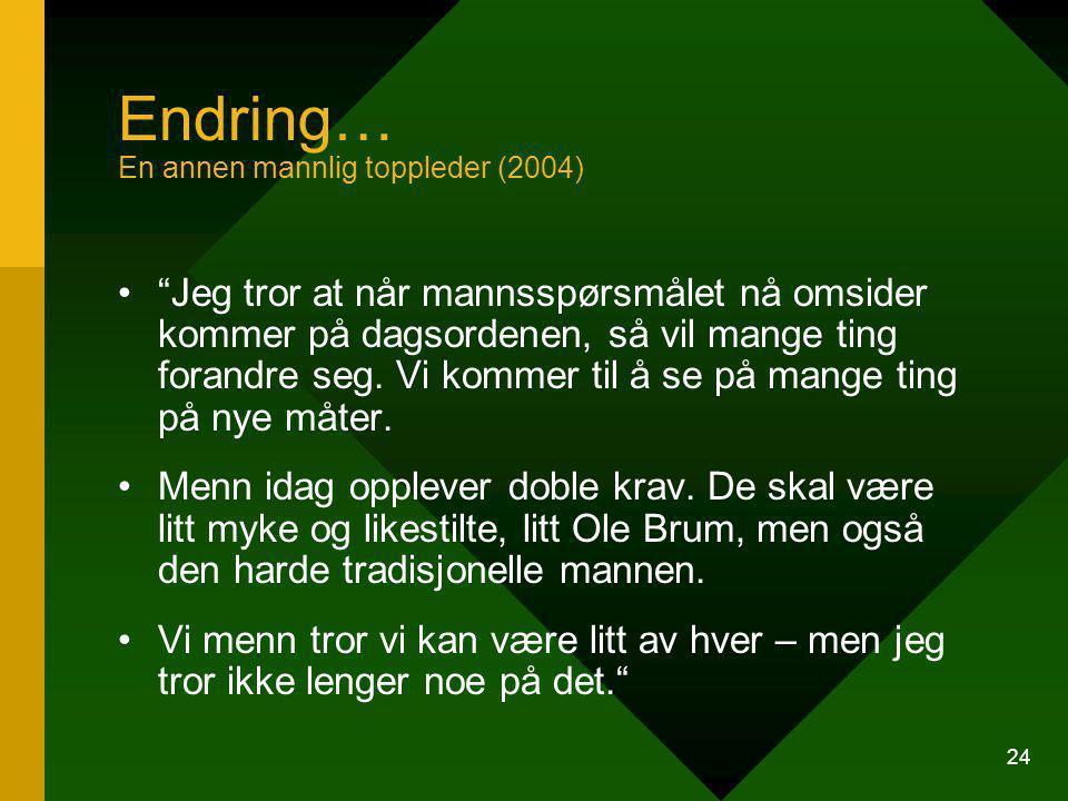 Endring… En annen mannlig toppleder (2004)